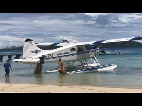 Arriving at Turtle Island, Fiji