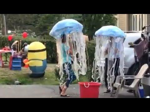 Easy homemade Dancing Halloween jellyfish costume