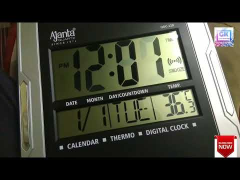 Ajanta ODC 120 wall clock time setting (how to set time in digital wall clock)