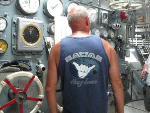 Gene Bernhardt Tour 3 USS Missouri plankholder as Boiler Tech