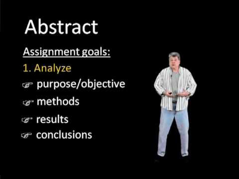 How to Write an APA Abstract