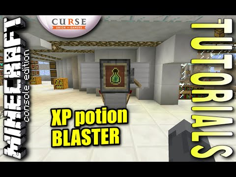 Minecraft PS4 - XP POTION BLASTER - How To - Tutorial - ( PS3 / XBOX / PC / VITA )