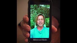 Brad Pitt congratulates Missouri State University #BearGrads