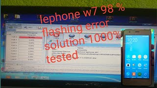 How to Flash lephone W2   solve hang on Logo   Music Jinni