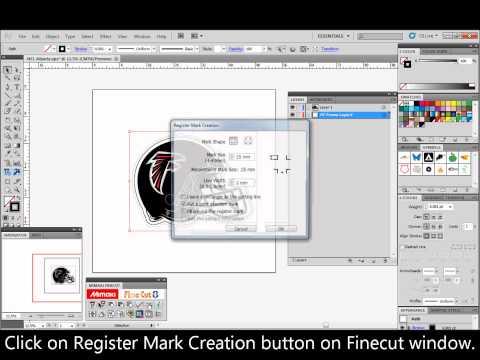 Registration mark creation