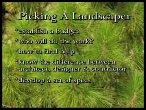 How To Choose A Landscaper