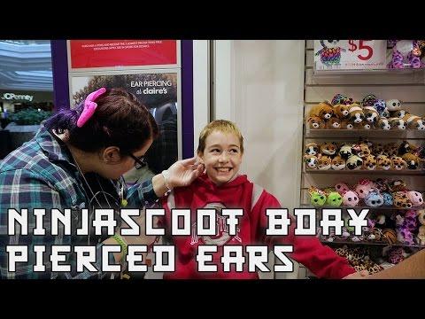 NinjaScoot's Birthday: He gets his ears pierced! January 5, 2017 VLOG