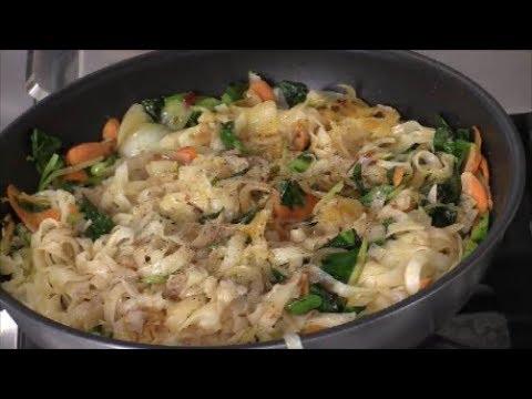 Vegan Vegetables Stir-Fry Rice Noodles With Less Sodium Soy