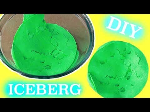 How To Make Iceberg Slime! Super Crunchy Dried Up SIime