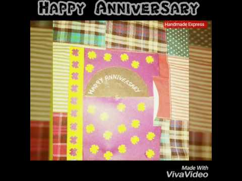Magical Anniversary card for mom & dad | handmade magical card |