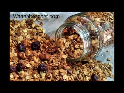 Muesli from oats ( how to make muesli/ granola at home)