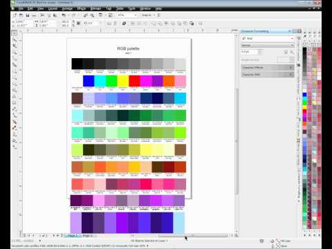 Creating a Color Chart for CorelDRAW x4 and x5 -