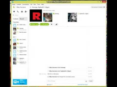 How to make a skype group chat