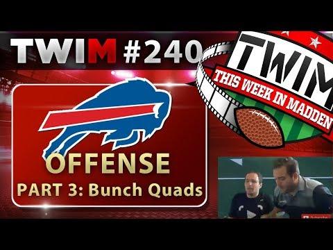 Madden 18 Gameplay | Bills Offensive Scheme Part 3 | Gun Bunch Quads