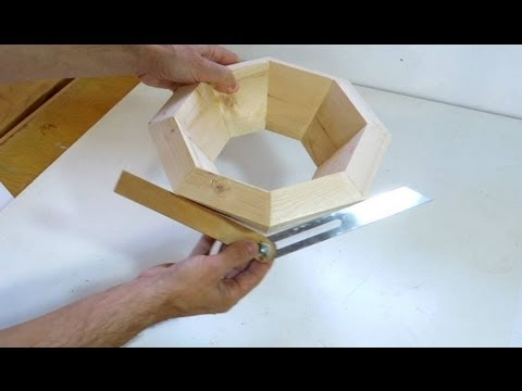 Splayed miter angle calculations and gluing