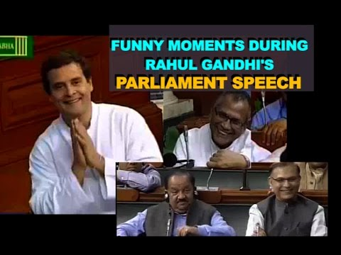 Rahul Gandhi Funny Moments during Lok Sabha Speech | MPs Laugh