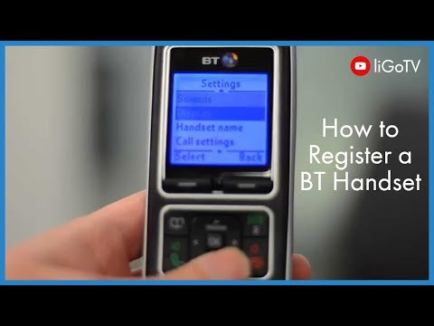 How To Register a BT Handset