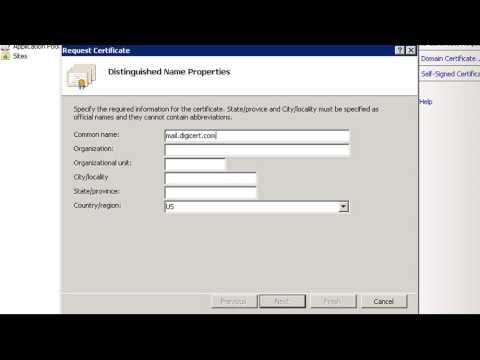 DigiCert SSL Certificate CSR Creation - Microsoft IIS 7
