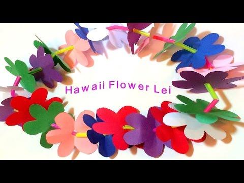 Hawaii Flower Lei DIY Paper Craft tutorial