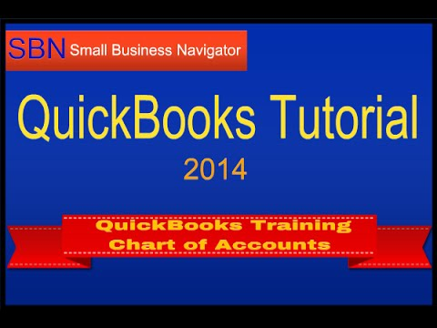 QuickBooks Training 2014 - How to Set Up Chart of Accounts