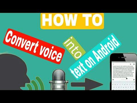 تبدیل صدا به متن در آندروید Convert voice into text on Android