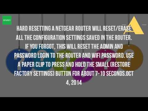How Do I Reset My Netgear Router Password?