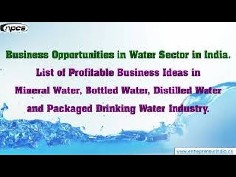 Business Opportunities in Water Sector in India.