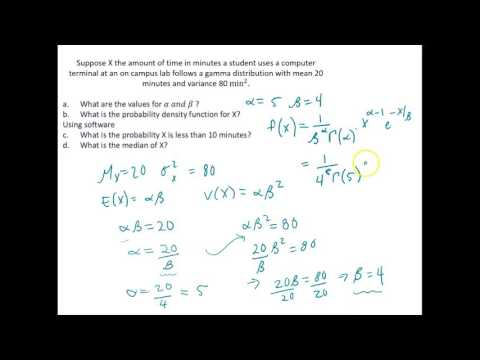 Calculating Probabilities and Percentiles for a Gamma Distribution Using R
