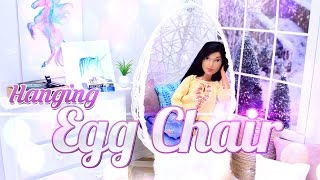Diy How To Make Hanging Egg Chair Dollhouse Decor Doll Crafts 4k
