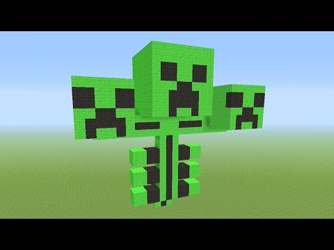 Minecraft Tutorial: How To Build A Creeper Wither Boss!!