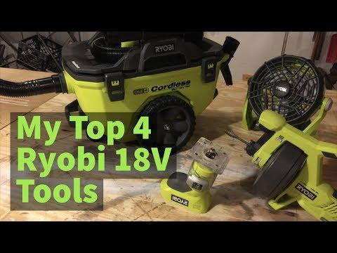 Ryobi's Top 4 Cordless Tools