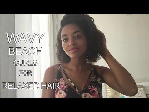 WAVY BEACH CURLS FOR RELAXED HAIR