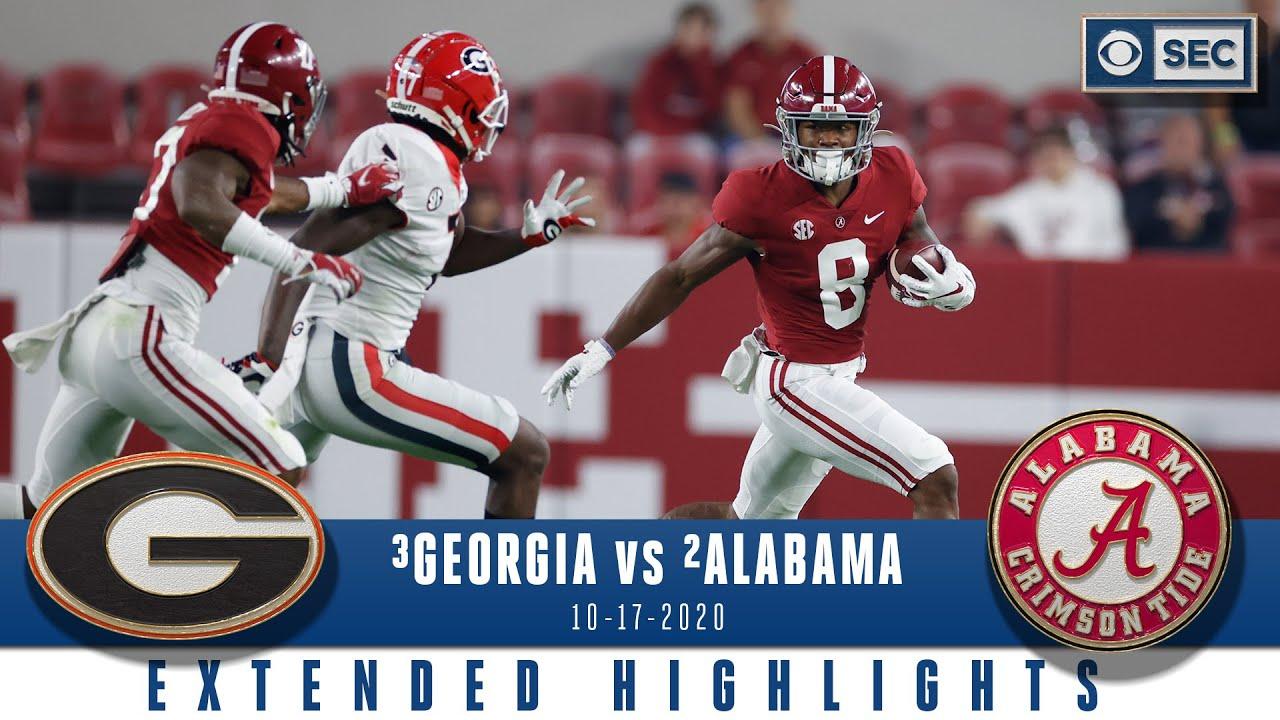 #3 Georgia Bulldogs vs. #2 Alabama Crimson Tide: Extended Highlights   CBS Sports HQ
