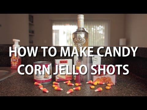 Halloween Candy Corn Jello Shots!