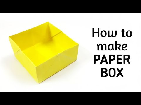 How to make an origami paper box - 1 | Origami / Paper Folding Craft, Videos and Tutorials.