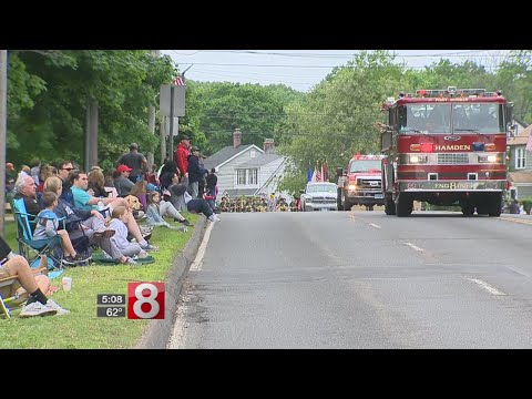 Hamden celebrates Memorial Day with parade weeks after storm