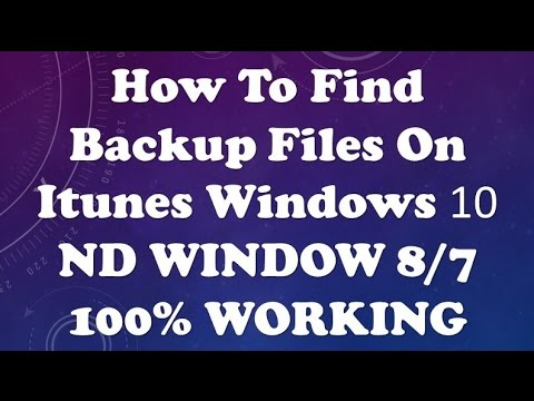 how to find backup files on itunes windows 10 2017