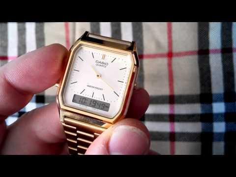 CASIO AQ230 GA . Vintage style watch.