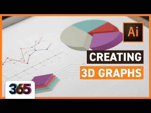 📊 Creating 3D Graphs | Illustrator CC Tutorial #103/365