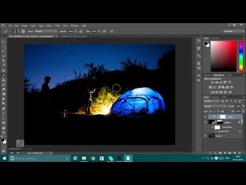 Adobe Photoshop CC Tutorial | How to add Stars in an Image