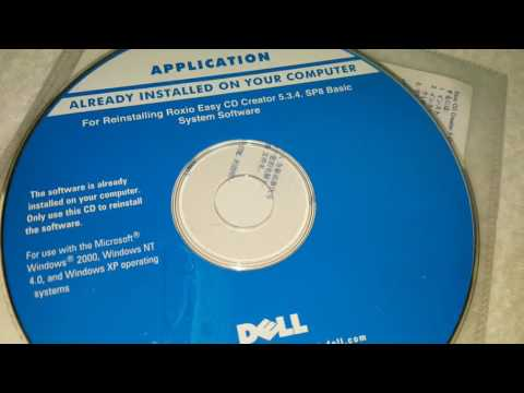Dell Already Installed On Computer Reinstalling Roxio Easy CD Creator System Software Applications