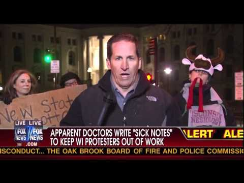 Wisconsin Doctor Gives Fox Producer Fake 'Sick' Note!