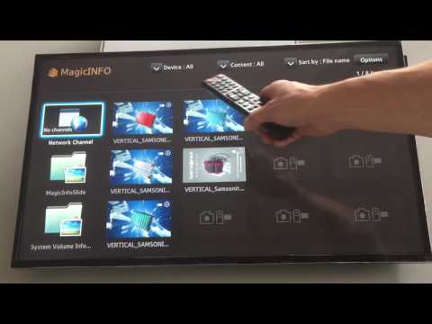 Magic Info Samsung instruction Autoplay content from USB stick