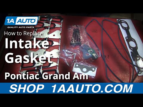 PART 2 of 3 How To Install Replace Lower Intake Manifold Gaskets GM 3.4L V6