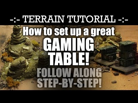 How To Set Up A Great GAMING TABLE! 40K Terrain Tutorial | HD