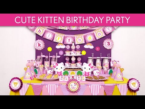 Cute Kitten Birthday Party Ideas // Cute Kitten - B116