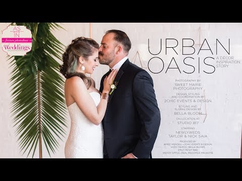Sacramento Wedding Inspiration: Urban Oasis {The Layout} featured in Real Weddings Magazine