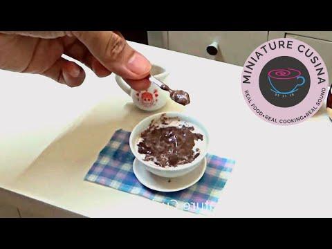 Miniature Food Cooking: Champorado Sweet Chocolate Rice Porridge (mini food) (kids toys channel