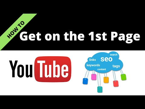 Youtube Ranking |  How To Get On First  Page With SEO ( search engine optimization) 2017