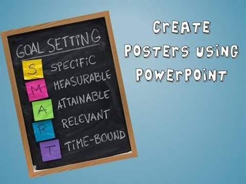 HOW TO CREATE POSTER IN POWERPOINT 2016